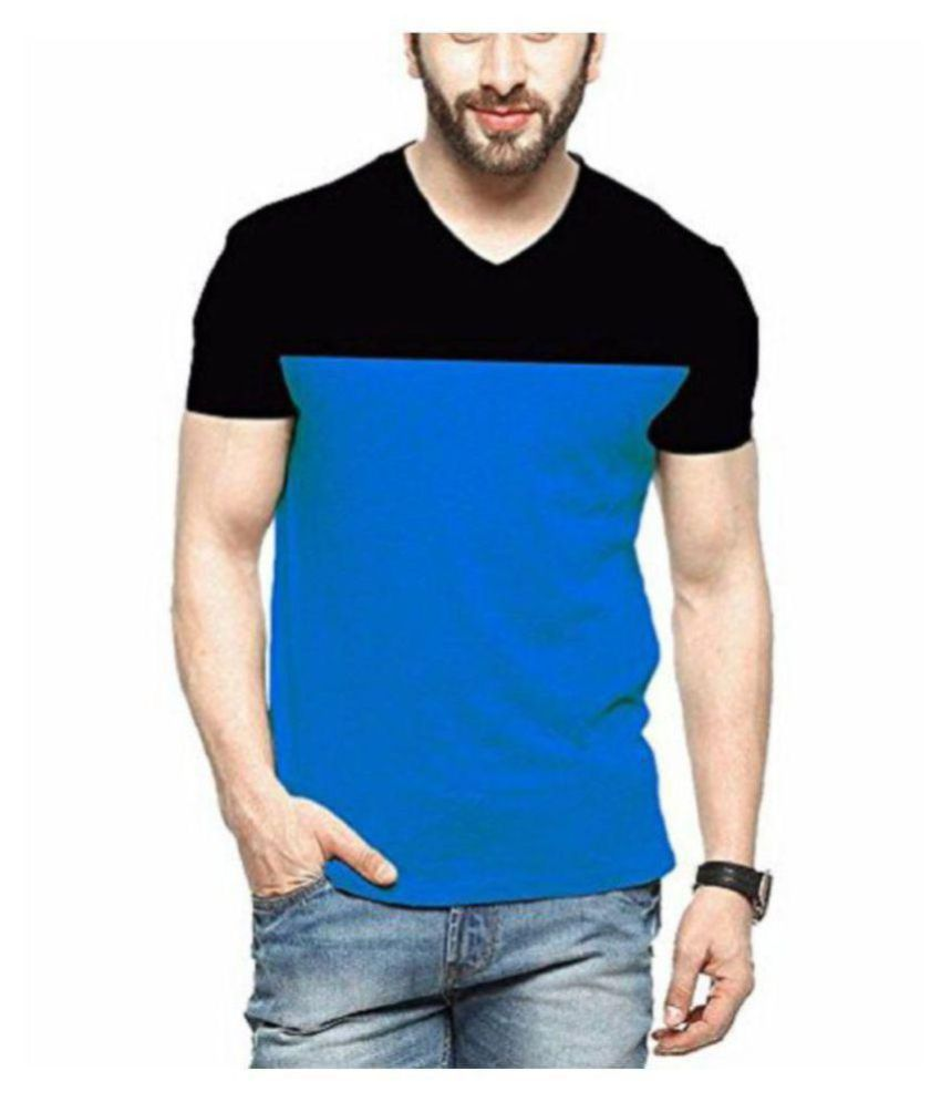 Shoeholic Blue Half Sleeve T-Shirt