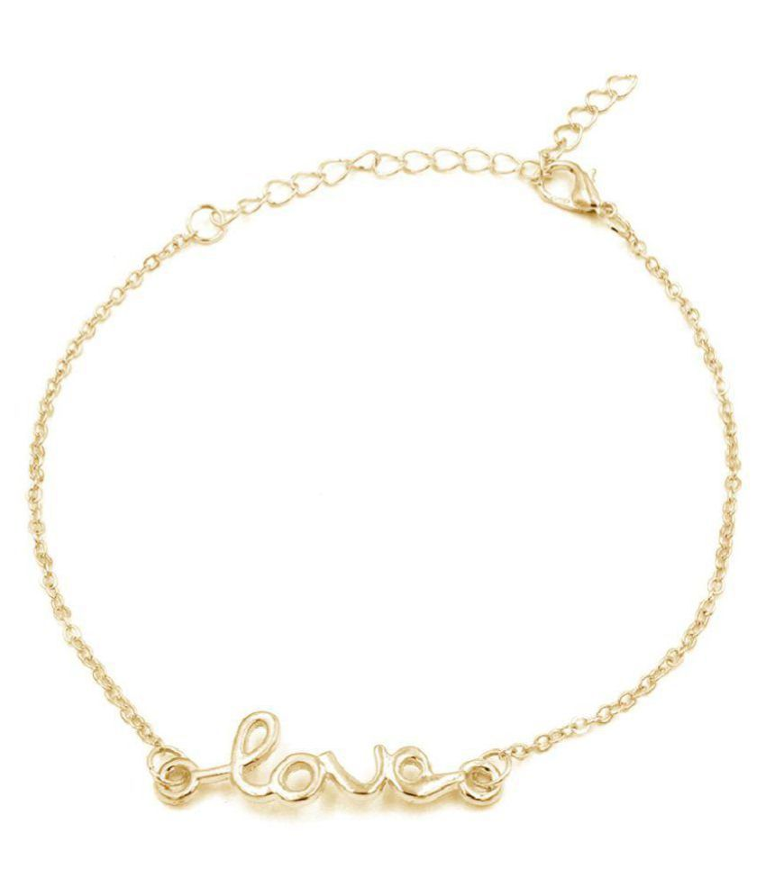 new style fashion foot letter ''LOVE'' anklet For Women's