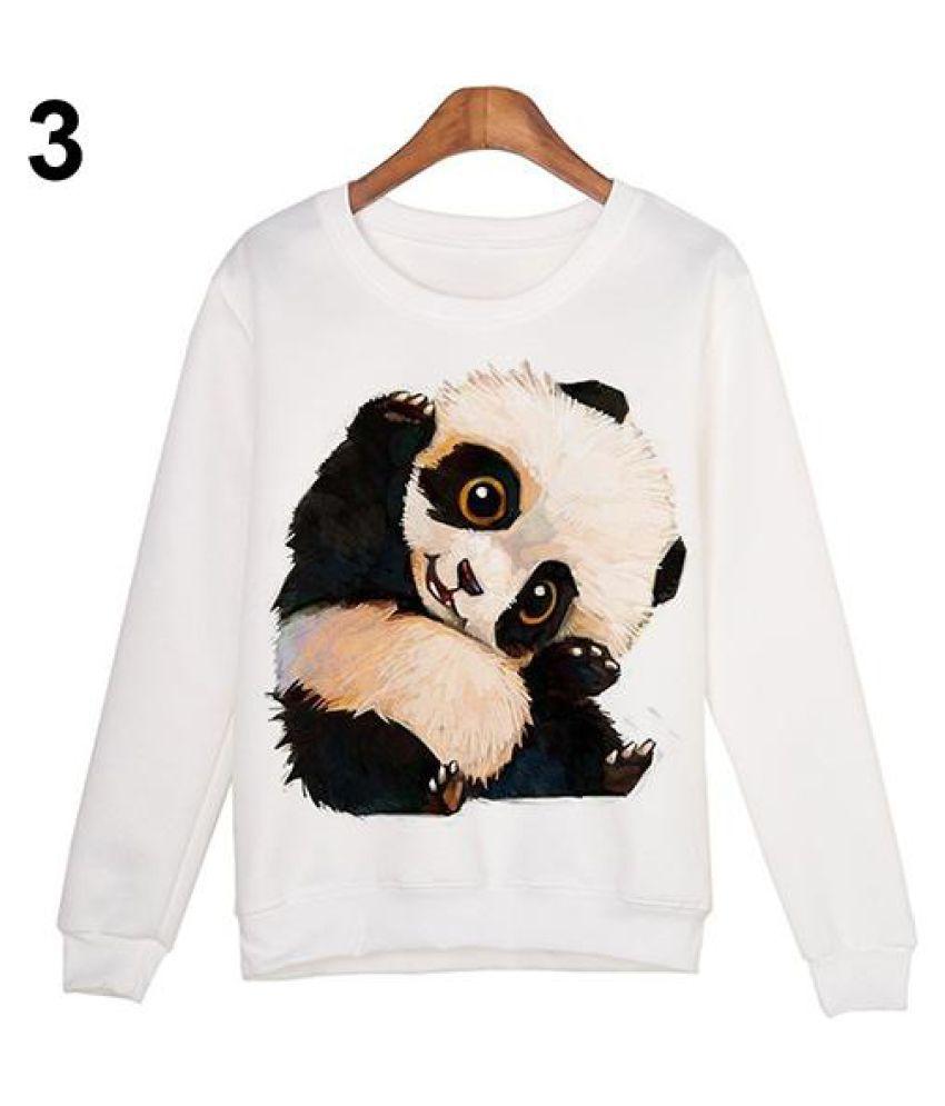 Cute Cartoon Animal Digital Printing Sweatshirt Long Sleeve O-Neck Pullover Top