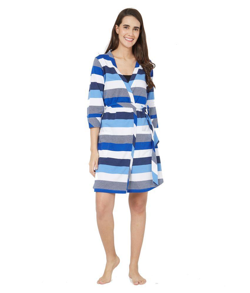 MystereParis Cotton Robes - Blue