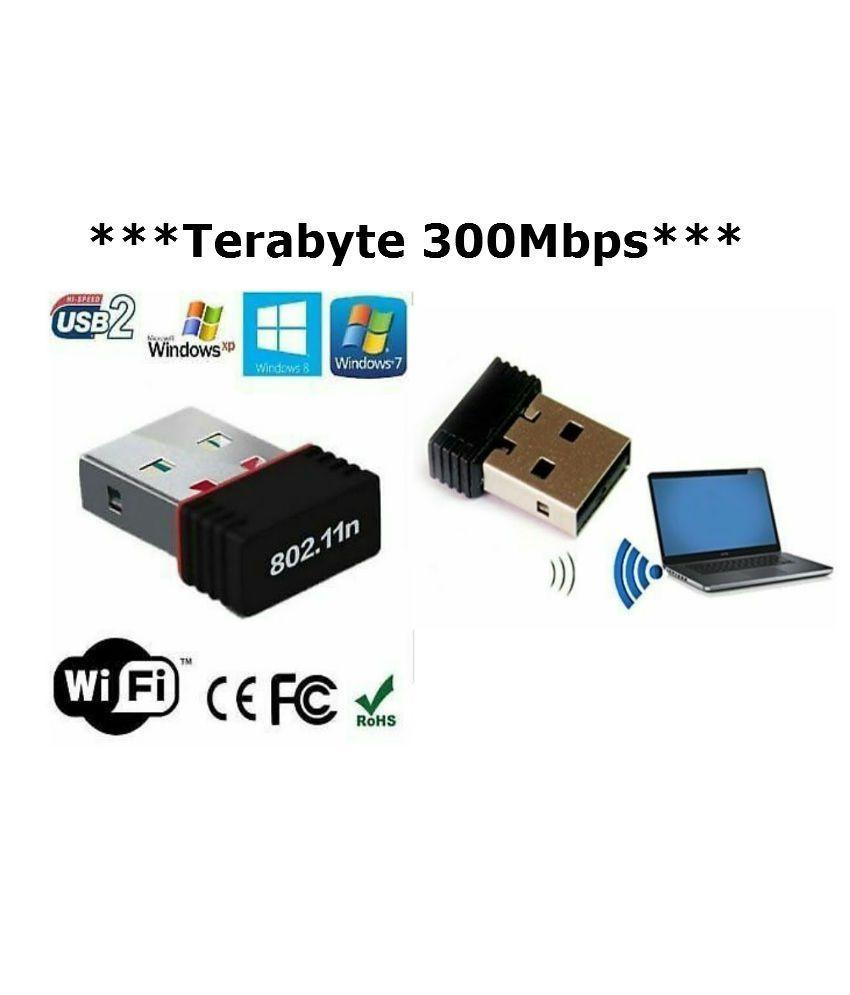 Ubrugte Terabyte Wifi Dongle 300Mbps Wi Fi 2.4GHz Small Wireless LAN OQ-85