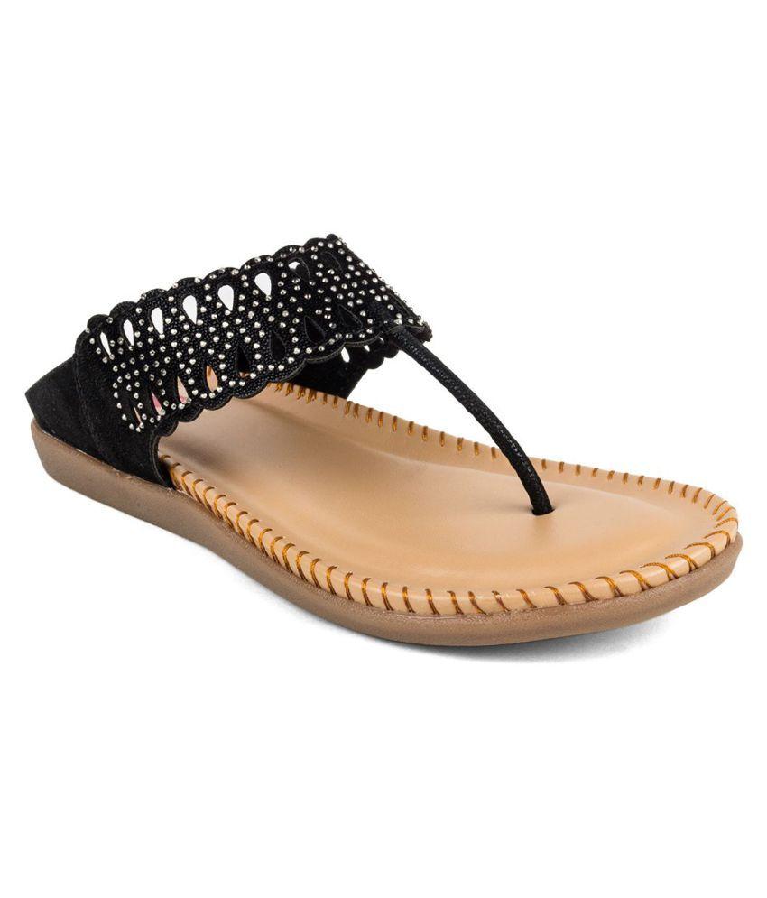 Cute Fashion Black Flats Price in India