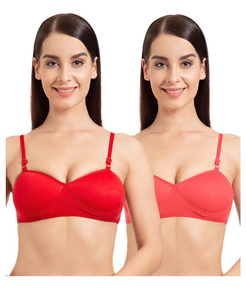 c2076e168805f2 Buy Tweens Cotton Bralette - Red Online at Best Prices in India - Snapdeal