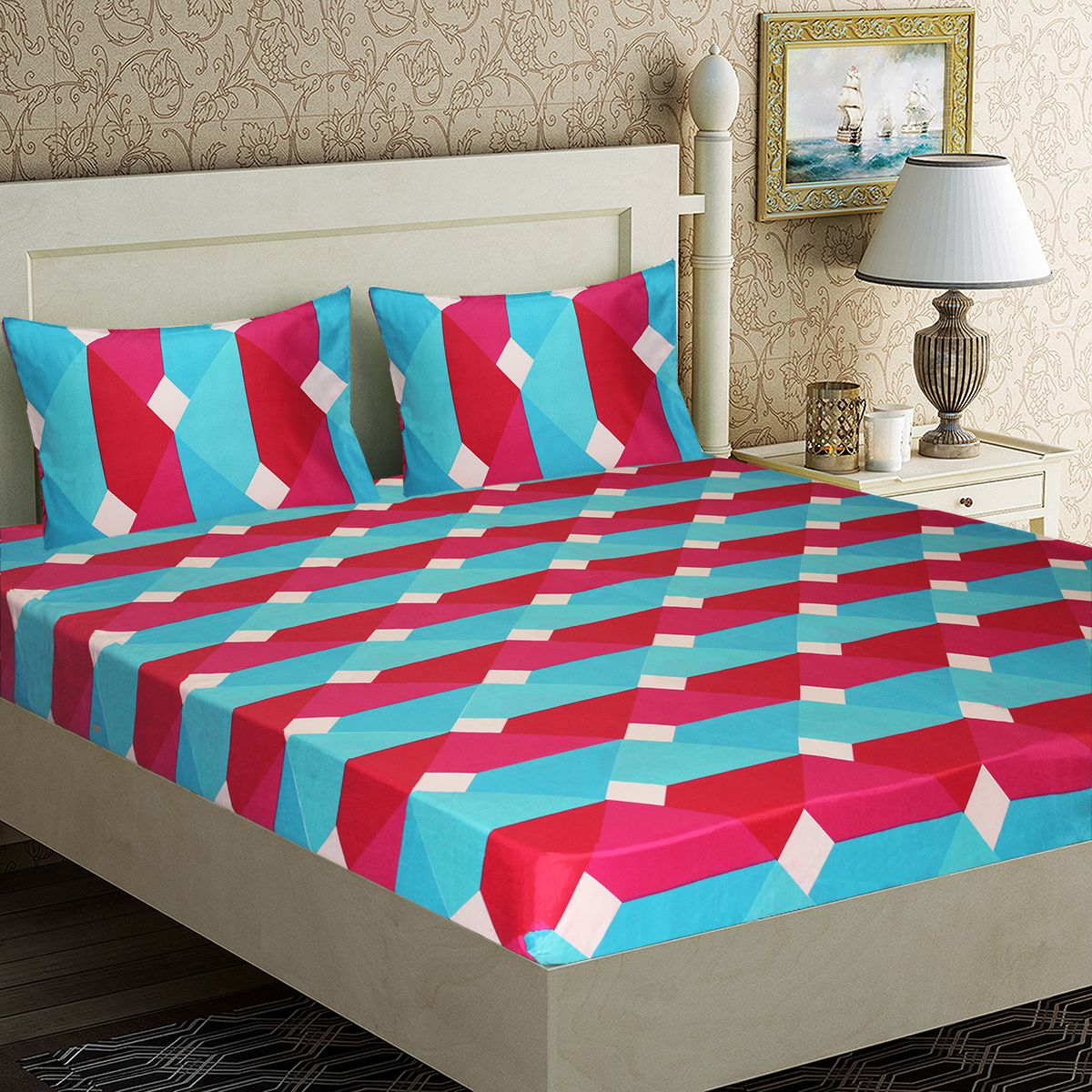 Amethyst Microfibre Double Bedsheet with 2 Pillow Covers