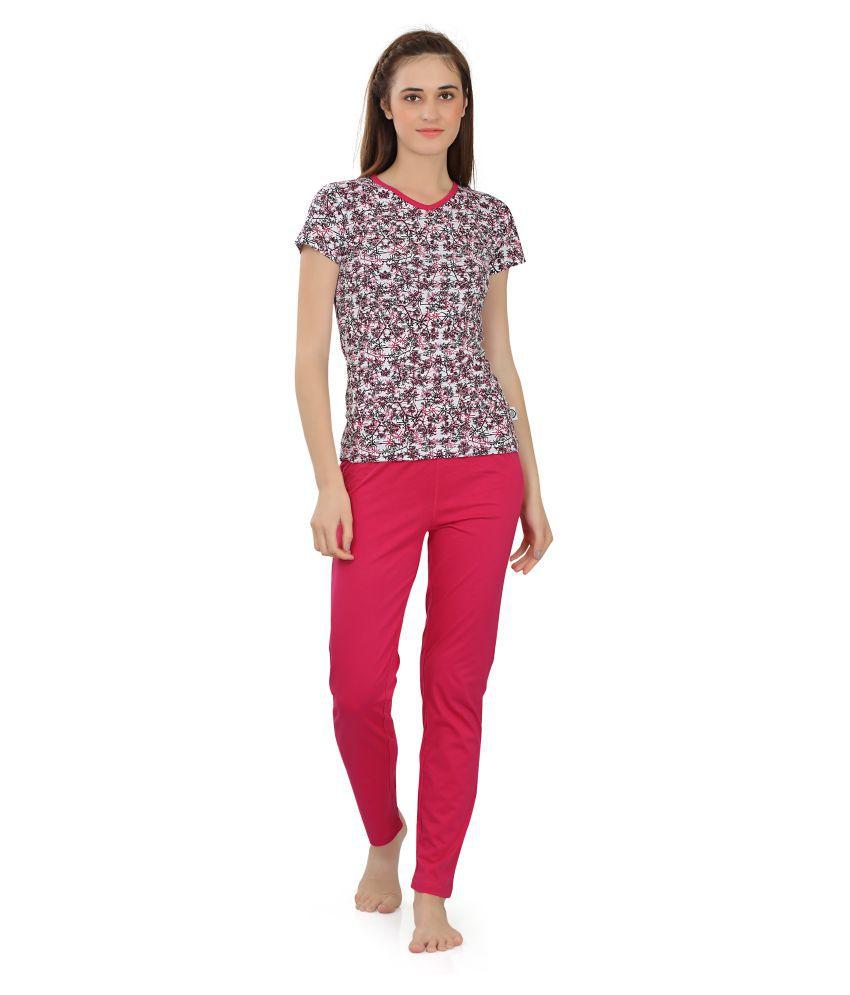 Zebu Cotton Nightsuit Sets - Pink