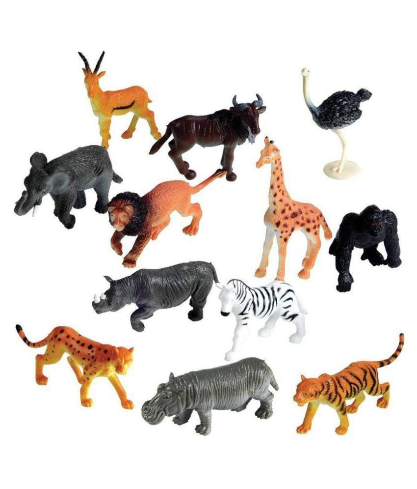 ANG Wild Animals Figures Set for Kids - Medium (Pack of 12