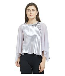 abd37ce46613f6 Silver Tops for Women - Buy Silver Women Tops Online at Low Prices ...