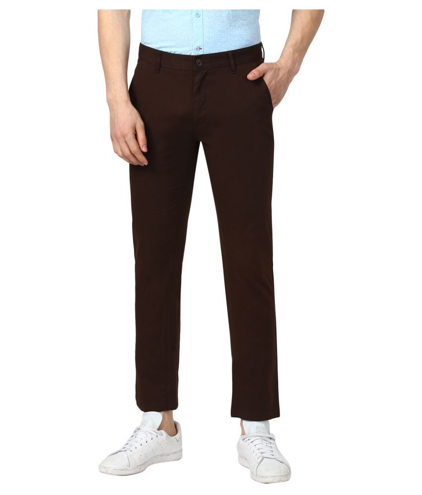 Monte Carlo Coffee Slim -Fit Flat Trousers