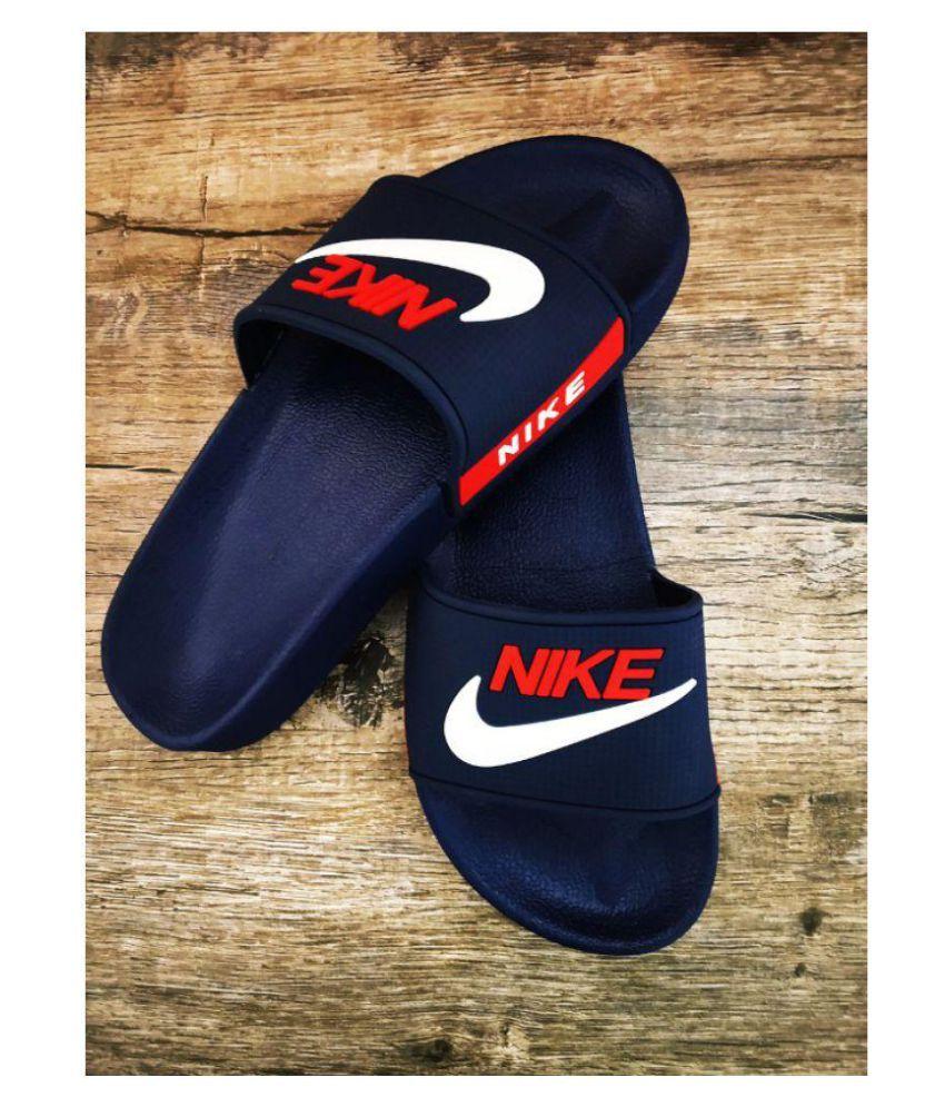 check out d5a0e 708fe Nike Blue Slide Flip flop