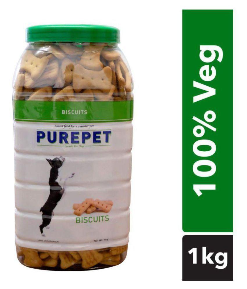 Purepet 100% Vegeterian Biscuit,Dog Treats- Jar, 1kg