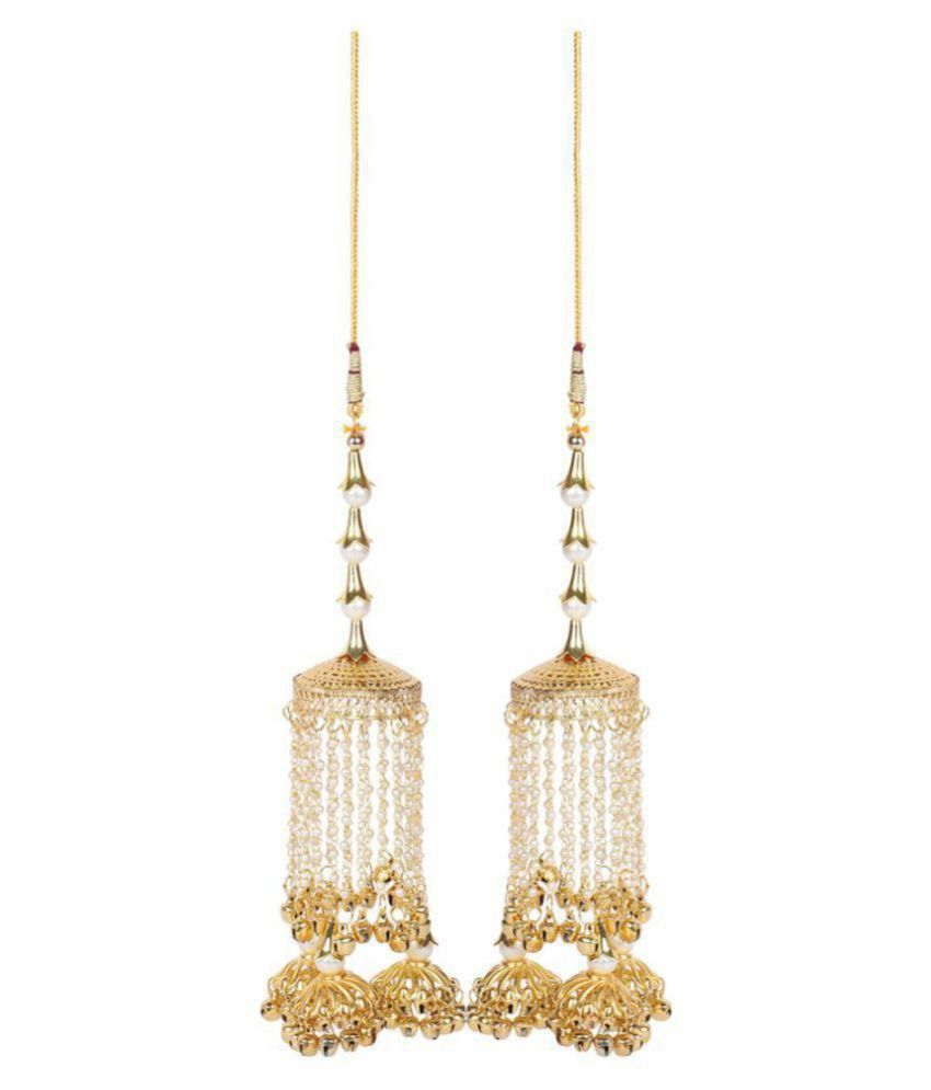 Much More Gold Tone  Bridal Kalira / Kaleeray With  Pearl Dropping Wedding Wear  Indian Traditional  Jewellery  For Women