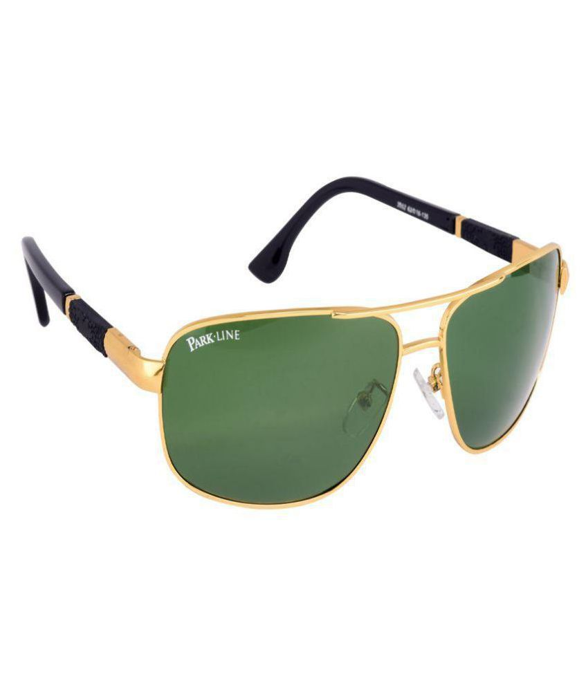 13838fbbc9 Park Line Green Aviator Sunglasses ( SGPL-3552-GOLDEN ) - Buy Park Line  Green Aviator Sunglasses ( SGPL-3552-GOLDEN ) Online at Low Price - Snapdeal