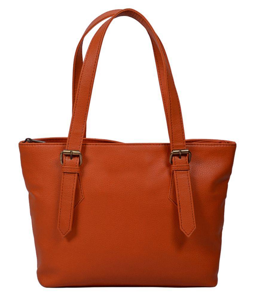 Bagsy Malone Orange Faux Leather Shoulder Bag