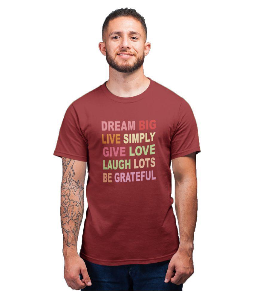 DigiPrintShop Red Half Sleeve T-Shirt