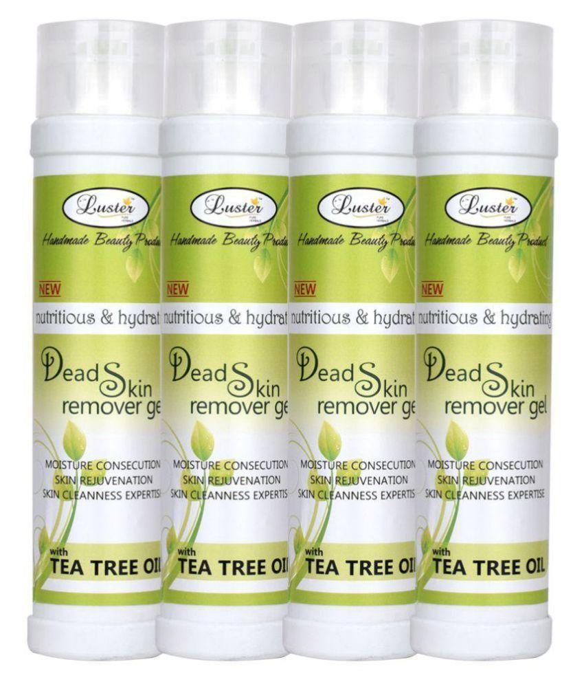Luster Dead Skin Removal Gel with Tea Tree Oil Body Scrub Gel 350 ml Pack of 4