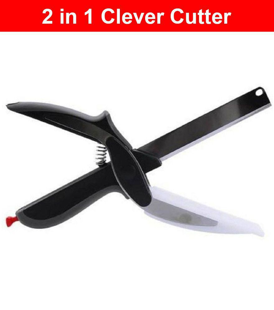 J.K. Clever Cutter 2 In 1 Stainless Steel Vegetable Scissor - Length of Blade (in cm)
