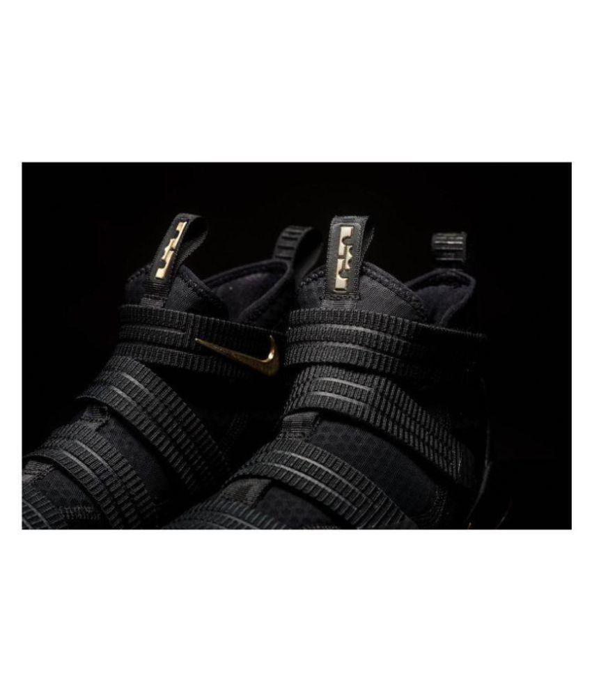 huge discount 30bf8 841bf Nike Lebron Soldier 11 Finals Black Metallic Gold Midankle Male Black