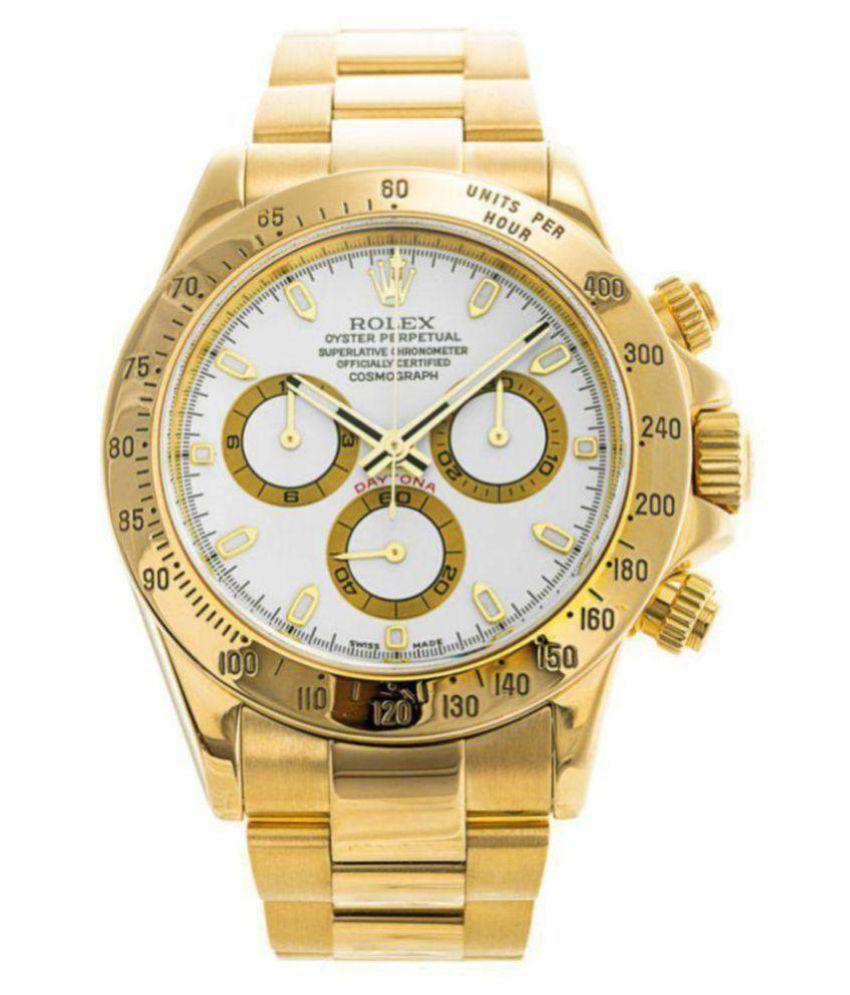 r olex 5865 Metal Analog Men's Watch