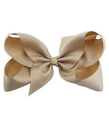 Women Rhinestone Large Bow Hair Accessory Grosgrain Ribbon Knot Clip Hairpin