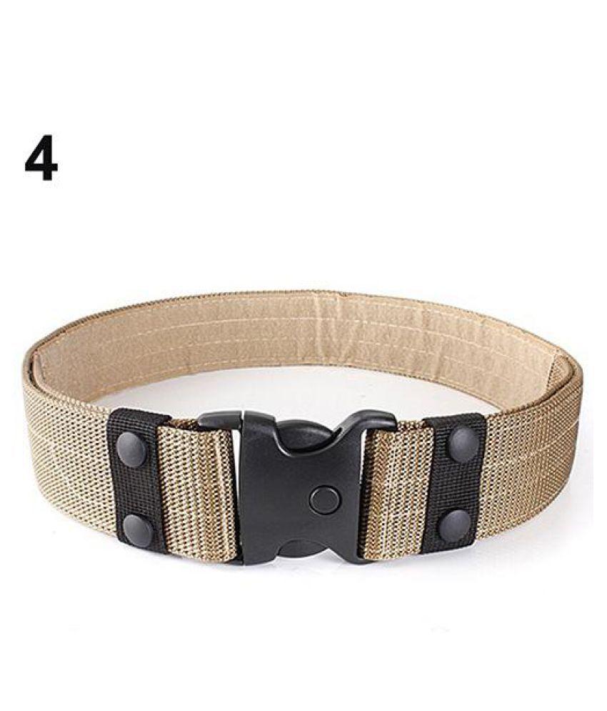 Adjustable Men's Tactical Security Combat Outdoor Rappelling Nylon Waist  Belt