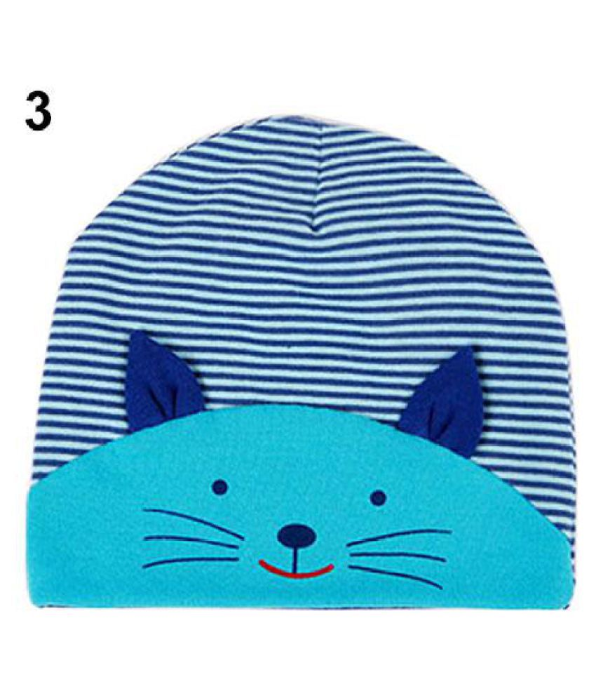 6812dc456 Cute 3D Cat Striped Baby Infant Kid Boy Girl Soft Warm Hat Cap Cotton Beanie