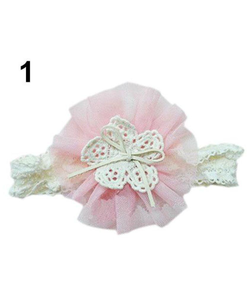Lace Flower Kids Baby Girl Toddler Headband Hair Band Headwear Accessories LD