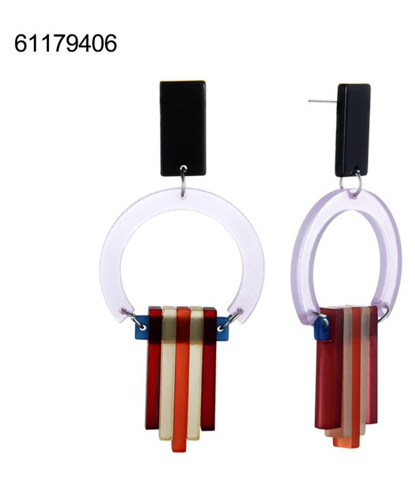 Boho Women Fashion Tassels Circle Pendant Dangle Studs Earrings Ear Drop Jewelry Fashion Jewellery