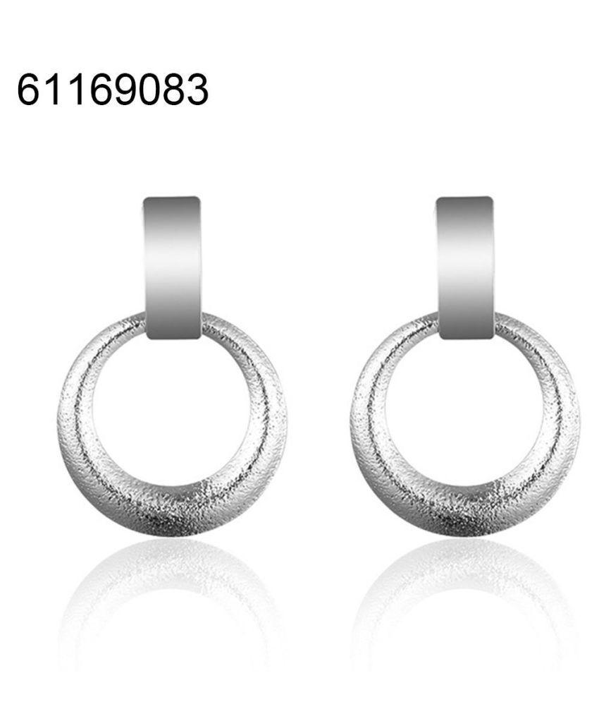 Fashion Hollow Circle Dangle Earrings Women Simple Ear Drops Party Jewelry Gift Fashion Jewellery