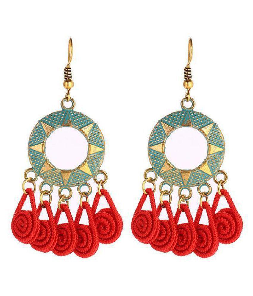 Women Jewelry Retro Style Geometry Shape Tassel Charm Wedding Gift Fashion Jewellery