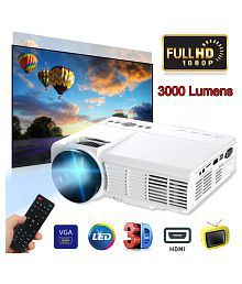 3000 Lumens 3D 1080P HD Projector For Home Theater Movie