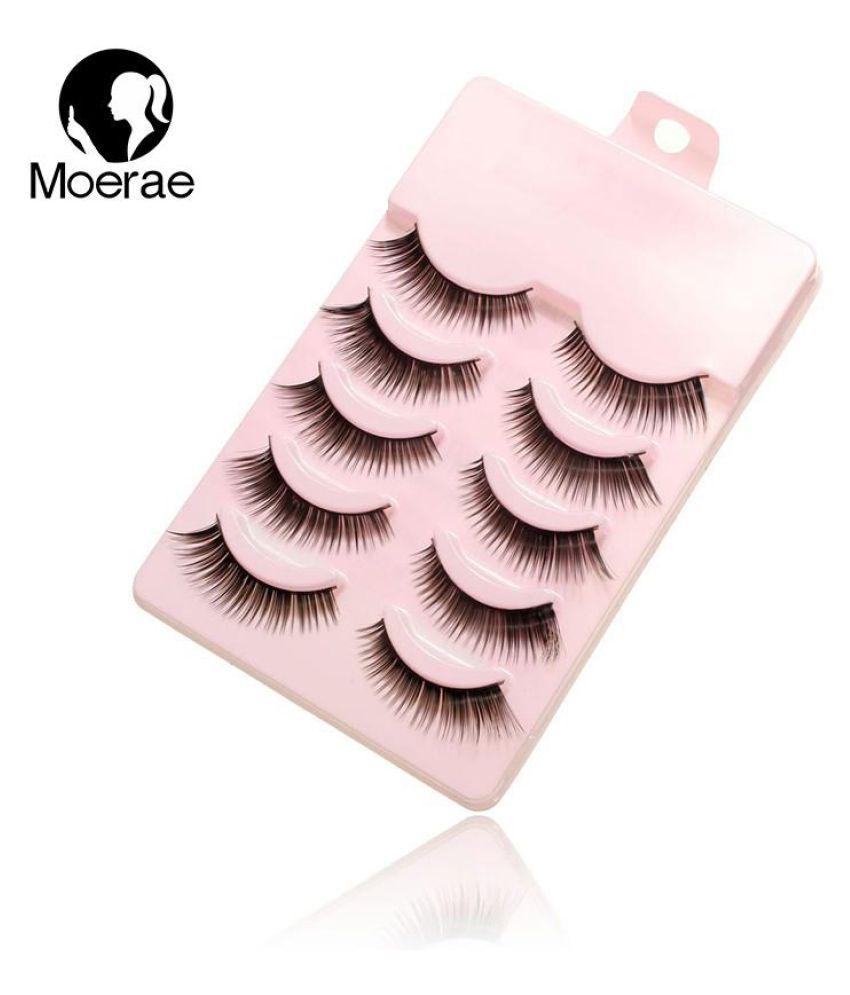 8d67b610c47 Luckyfine 5 Pairs Natural Thick Long Black False Eyelashes Maquiagem Fake  Handmade Soft Fiber Hair Eye ...