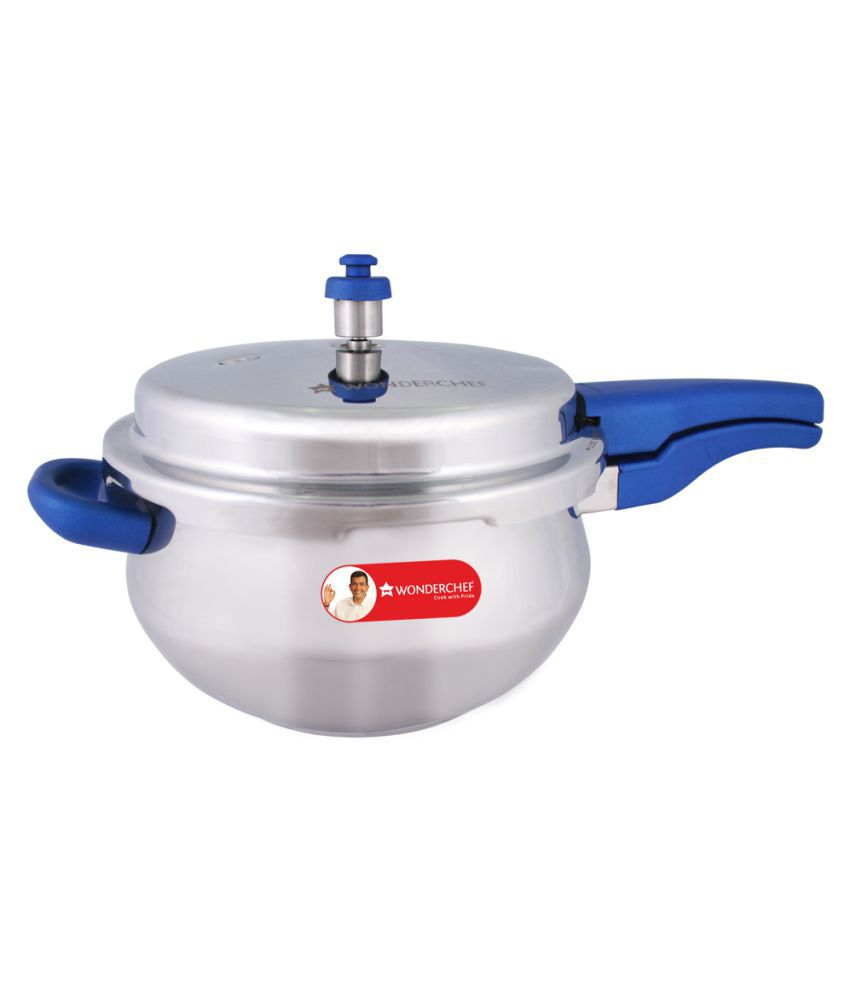 bb21c5644c3 Wonderchef Nigella Handi Blue 5.5 L Stainless Steel OuterLid Pressure Cooker  With Induction Base  Buy Online at Best Price in India - Snapdeal