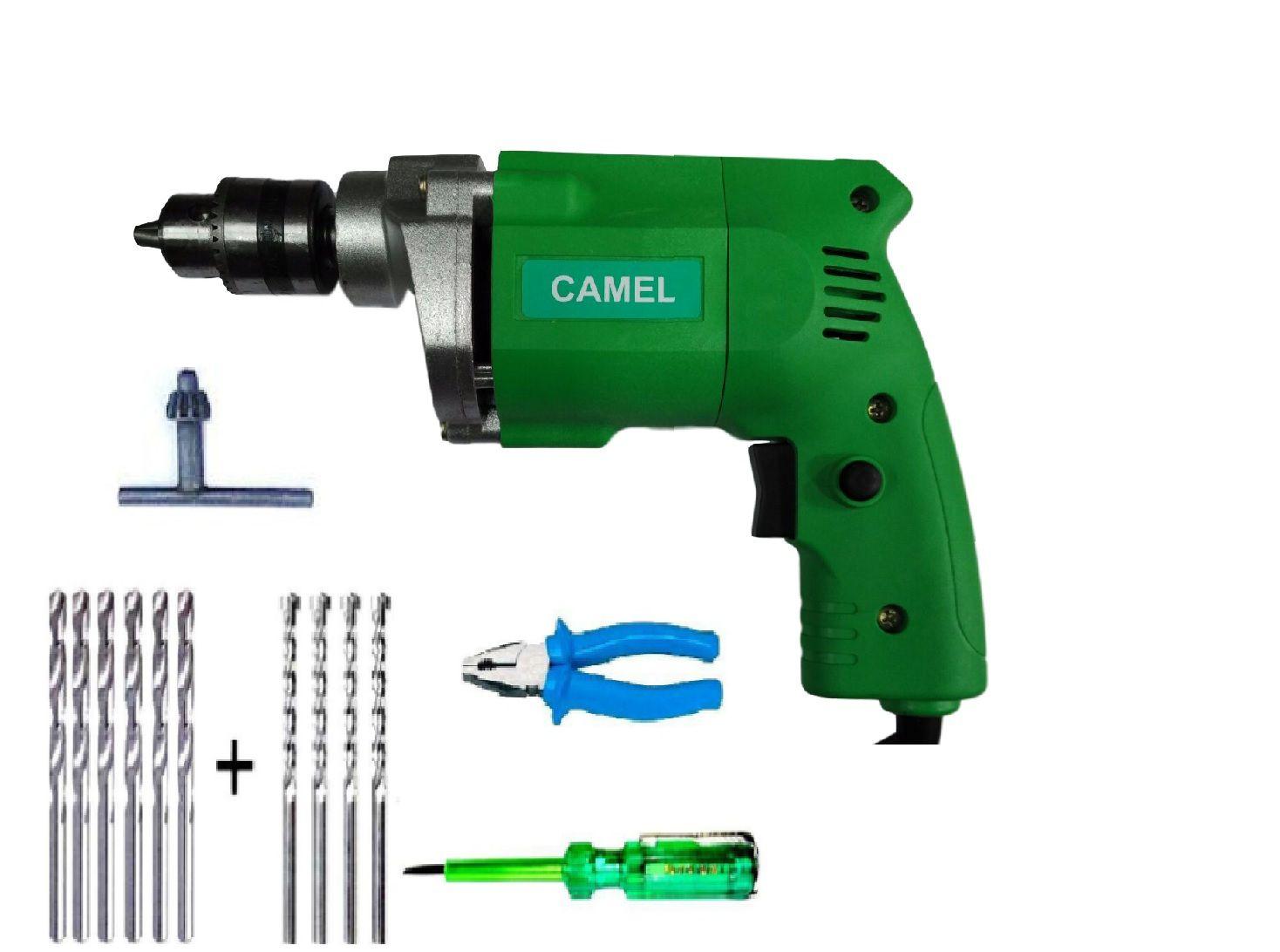 Camel 10mm 350W Drill Machine with 6 HSS + 4...
