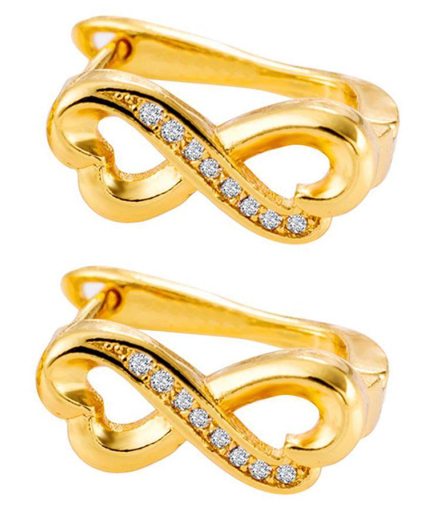Fashion Women Hollow Lucky 8 Zircon Inlaid Ear Clips Date Leaverback Earrings Fashion Jewellery