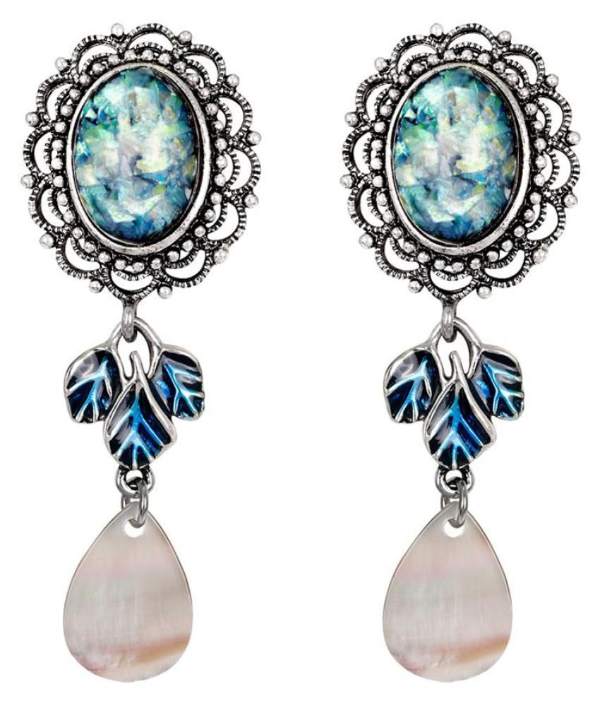 Vintage Women Hollow Earrings Faux Gem Pendant Wedding Banquet Cocktail Jewelry Fashion Jewellery