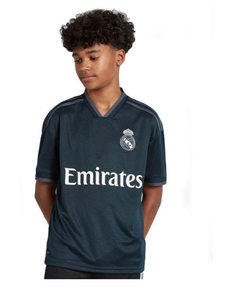 fe46edbe7eb Fc Real Madrid away polyester dry fit black colour Luka Modrić fan half  sleeve jersey with short - Buy Fc Real Madrid away polyester dry fit black  colour ...