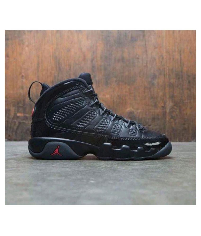 online store 807ca 5b5fc Nike Air Jordan 9 Retro Black Running Shoes - Buy Nike Air Jordan 9 Retro  Black Running Shoes Online at Best Prices in India on Snapdeal