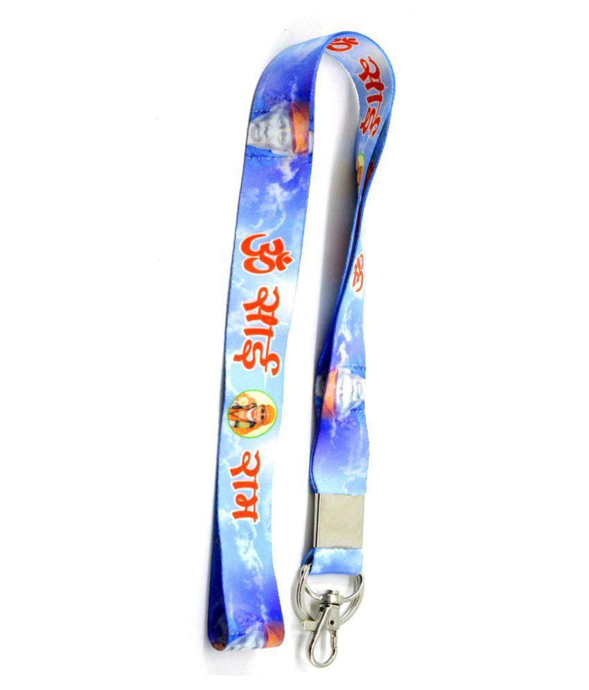Premium Quality Fabric Double Sided Om Sai Ram Hook Key Chain for Sai Premi \n\n