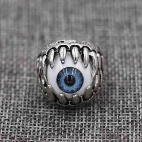 1 Pc Titanium Demon Eyed Ring - Size 9 Fashion Jewellery
