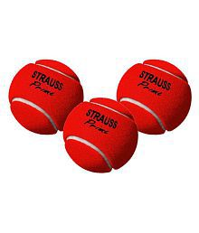 Strauss Heavy Weight Cricket Ball, Pack of 3 (Red