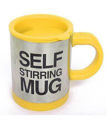 Arythe Self String Electric Shaker Mug (YELLOW) 1 Cups 150 Watts Coffee Maker
