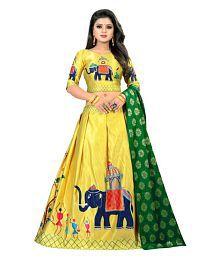 2b61d94c9e Quick View. Social Star Digital Yellow Jacquard Chaniya Choli Semi Stitched  Lehenga
