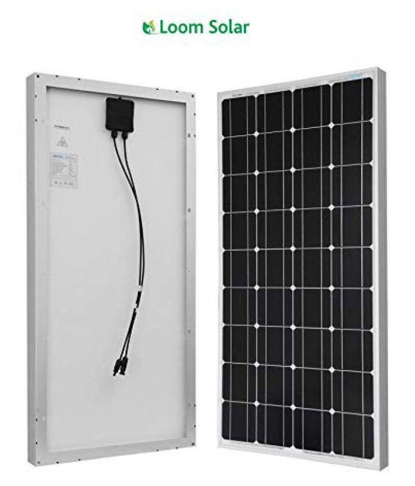 Loom Solar 125w Pack Of 2 125 Monocrystalline Solar Panel Price In India Buy Loom Solar 125w Pack Of 2 125 Monocrystalline Solar Panel Online On Snapdeal