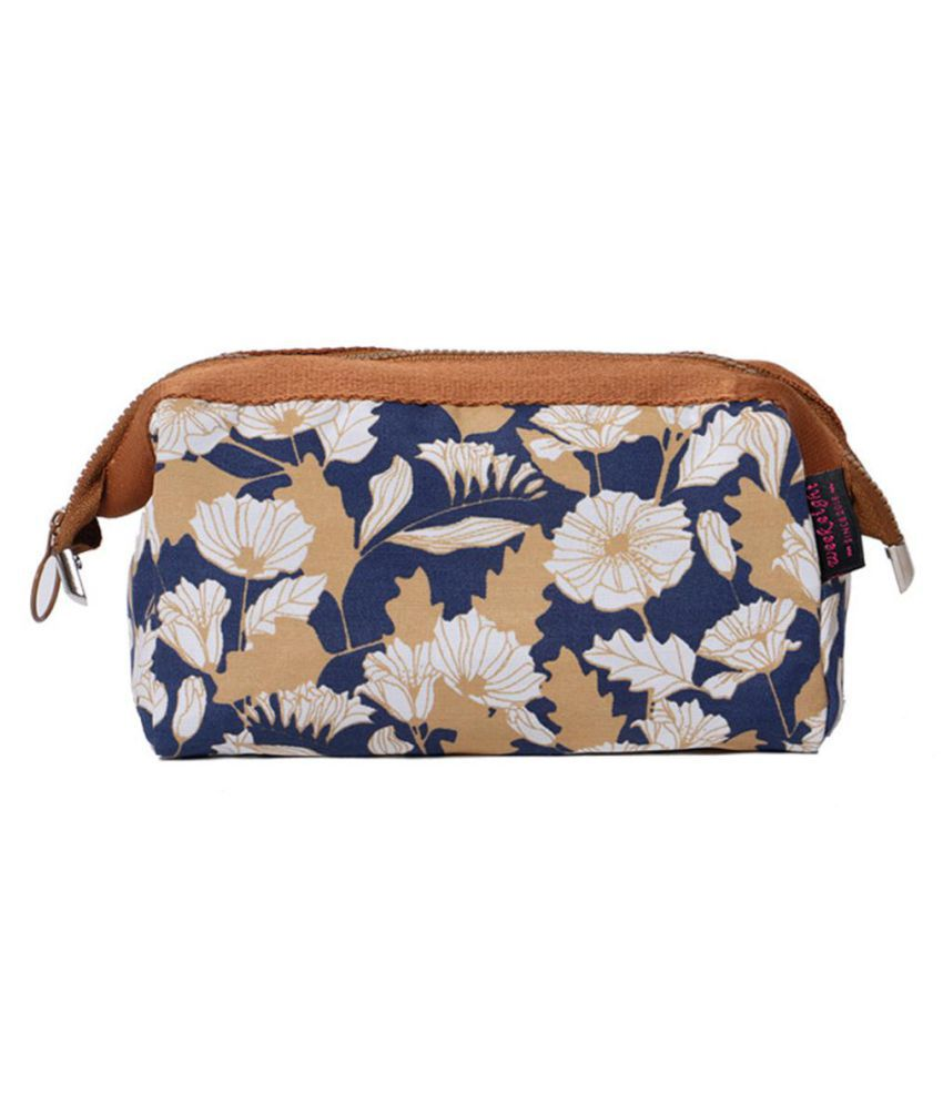 Fashion Flamingo Flower Print Makeup Brushes Holder Bag Pouch Portable Gift
