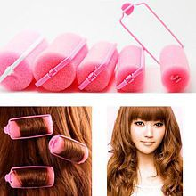 6Pcs Fashion Sponge Foam Hair Curlers Rollers Twist Salon Hairs Styling Tools