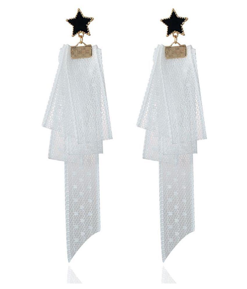 Fashion Women Five-pointed Star Lace Dangle Stud Earrings Eardrop Jewelry Gift Fashion Jewellery