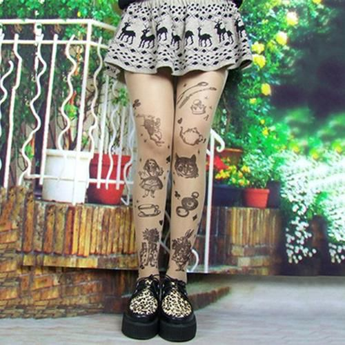 ea017a11a200 Women Fashion Ultra Thin Transparent Tattoo Tights Stockings Pantyhose  Leggings: Buy Online at Low Price in India - Snapdeal