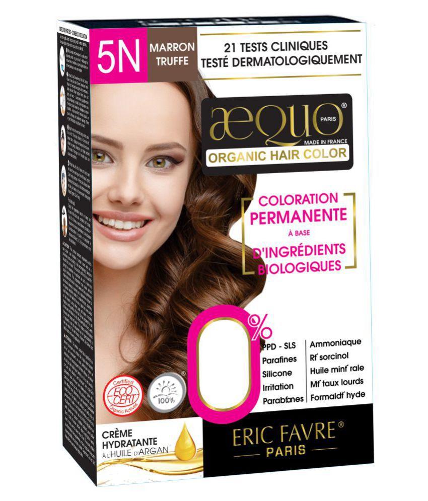 Aequo Organic Women 5N Semi Permanent Hair Color Light Brown 170 ml