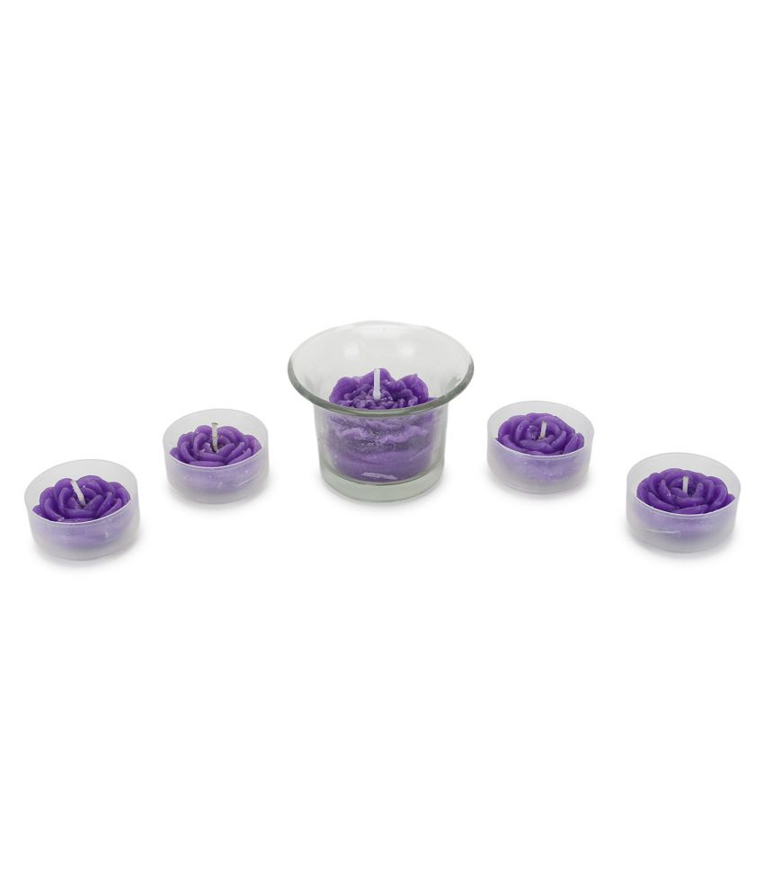 Spa Veda Purple Votive Candle - Pack of 5