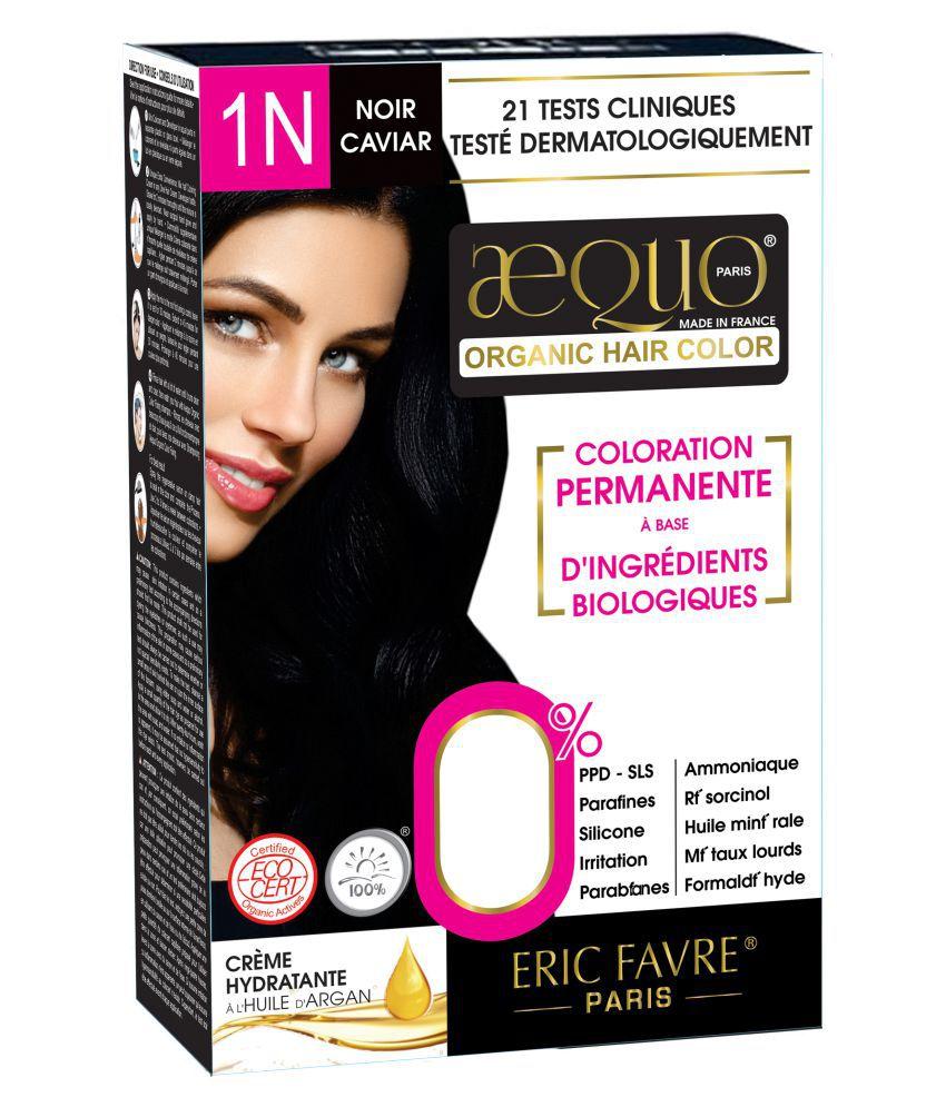 Aequo Organic Women 1N Semi Permanent Hair Color Black 170 ml